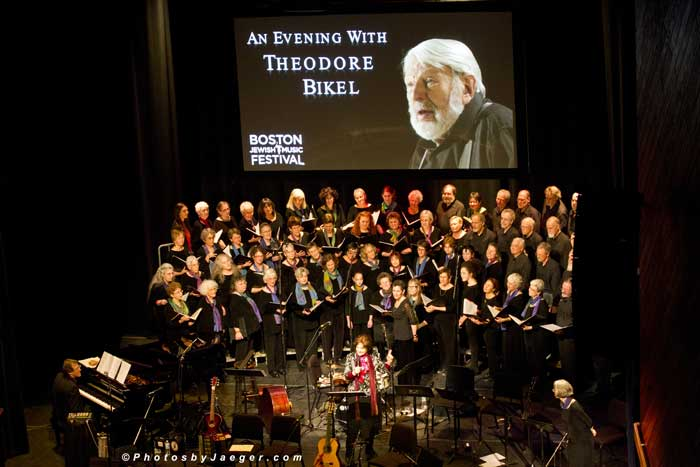 Rosalie (soloist) with the Bessere Velt Chorus/Hankus Netsky on piano, BJMF Berklee Performance Center, 2014