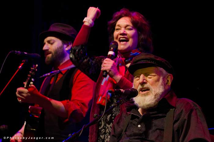 Rosalie with Theodore Bikel & Dan Kahn, BJMF Berklee Performance Center, 2014